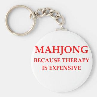 mahjong porte-clé rond