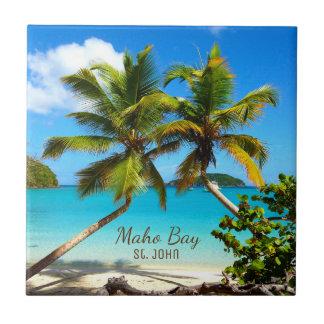 Maho Bay Beach St. John Ceramic Tile Art
