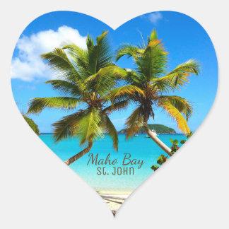 Maho Bay Beach St. John Stickers