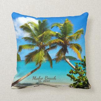 Maho Bay Beach St. John Throw Pillow