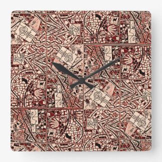 MAHOGANY BROWN ABSTRACT CLOCK