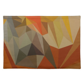 Mahogany Brown Abstract Low Polygon Background Placemat