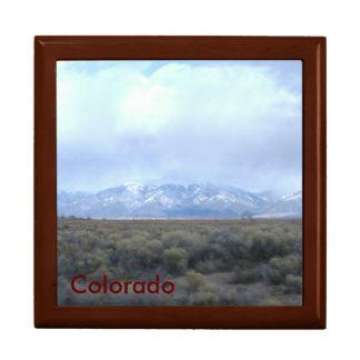 Mahogany Gift Box/Colorado Template Trinket Box
