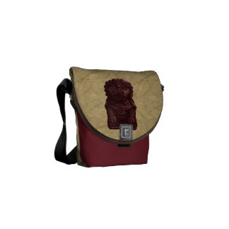 Mahogany Lion Dog Pixel Art Courier Bags