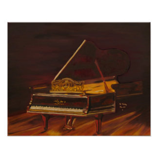 Mahogany Melody canvas print