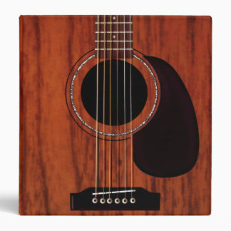 Mahogany Top Acoustic Guitar 3 Ring Binder