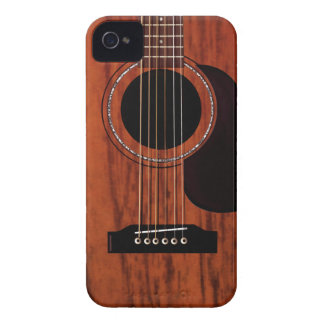 Mahogany Top Acoustic Guitar Case-Mate iPhone 4 Cases