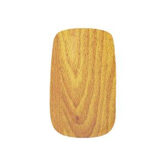 Mahogany Wood Grain Minx Nail Art