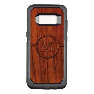 Mahogany Wood Monogram OtterBox Commuter Samsung Galaxy S8 Case