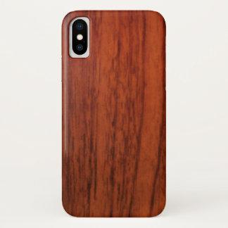 Mahogany Wood Print iPhone X Case