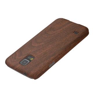 Mahogany Wood Texture Galaxy S5 Cases