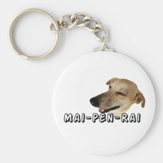 mai-pen-rai basic round button keychain