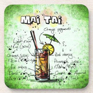 Mai Tai Drink Recipe Coaster