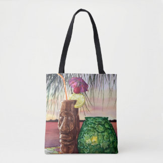 Mai Tai Sunset Tote Bag