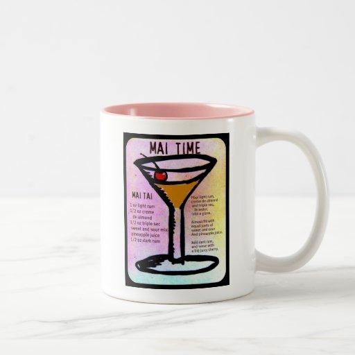 MAI TIME, MAI TAI PRINT with RECIPE by jill Mugs