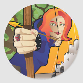 Maid Marian of Robin Hood lore Classic Round Sticker