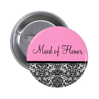 Maid of Honor 2 Inch Round Button