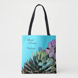 Maid of Honor, Agave & Cactus Personalized Tote