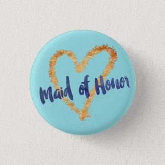 Maid of Honor Art Brush on Island Paradise 1 Inch Round Button