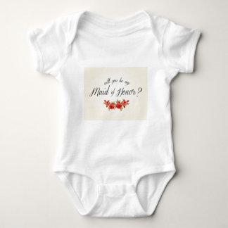 Maid of Honor Baby Bodysuit
