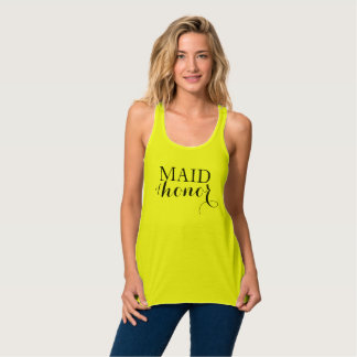 Maid of Honor Bachelorette Party Neon Yellow Tank