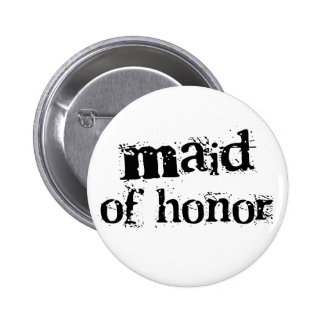 Maid of Honor Black Text 2 Inch Round Button