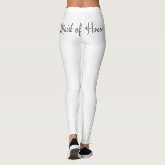 Maid of Honor bling design Leggings