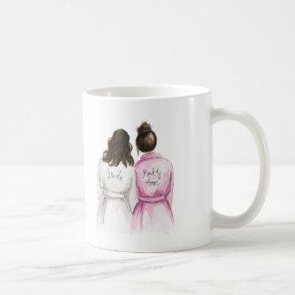 Maid of Honor? Br Wavy Bride Dk Br Bun Maid Classic White Coffee Mug