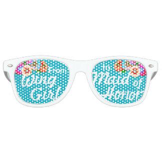 Maid of Honor! Bride Party Shades!  Bachelorette Retro Sunglasses