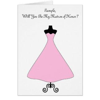 Maid of Honor/Bridesmaid Card