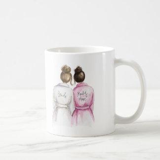 Maid of Honor? Brunette Bun Bride Dk Br Bun Maid Coffee Mug