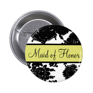Maid of Honor Pinback Buttons
