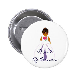 Maid Of Honor Button - Customizable Pinback Buttons