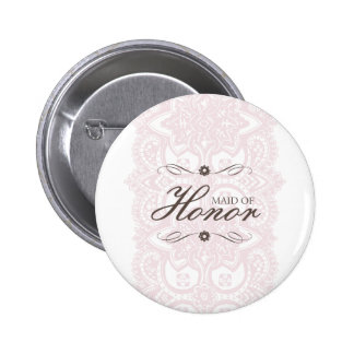 Maid Of Honor Button-Vintage Bloom 2 Inch Round Button