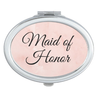 """Maid of Honor"" compact mirror"