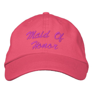 Maid Of Honor Embroidered Hat
