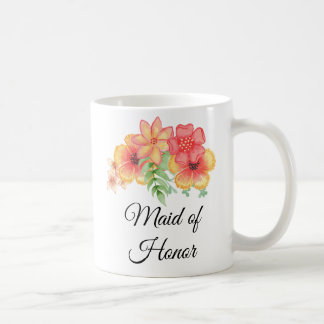 Maid of Honor Floral Bouquet Mug