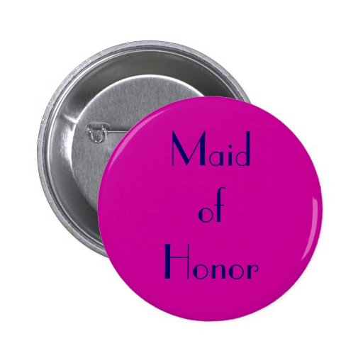 Maid of Honor Fuchsia and Navy Button