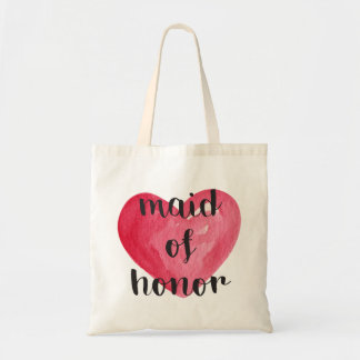 Maid of Honor Heart Tote Bag
