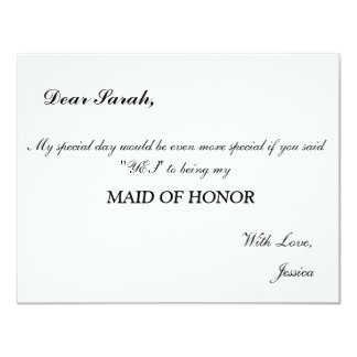 Maid of Honor Invitation elegant