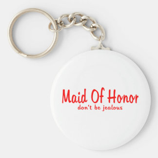 Maid Of Honor Jealousy Basic Round Button Keychain