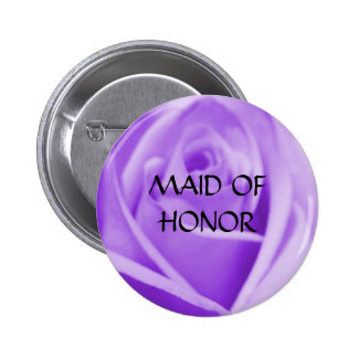 MAID OF HONOR - lavender rose button