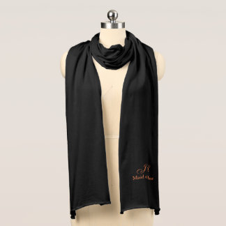 Maid of Honor Monogram Knit Scarf