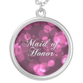 Maid of Honor Necklace [Pink Bokeh]