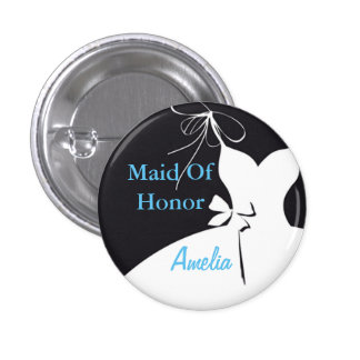 Maid of Honor or Bridesmaid Flair 1 Inch Round Button