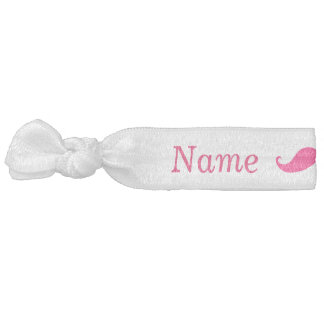 Maid of Honor Pink Mustache Hair Tie