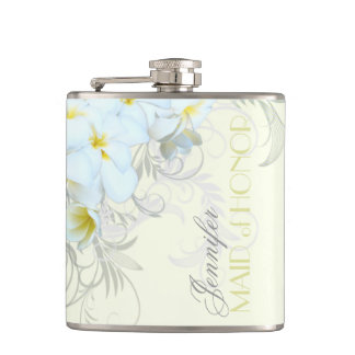 Maid of Honor Plumeria Flourish Personal Flask