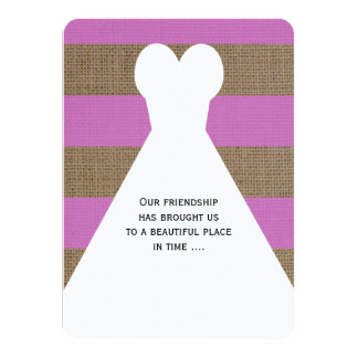 Maid of Honor Poem in Orchid Card