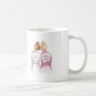 Maid of Honor? Red Bun Bride Bl Bun Maid Classic White Coffee Mug