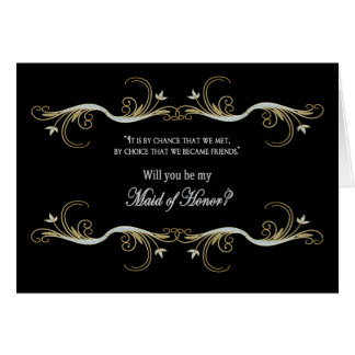 Maid of Honor Request - Best Friend Card